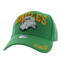 VM535 Eagle Velcro Cap (Solid Kelly Green)