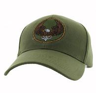 VM547 Eagle Velcro Cap (Solid Olive)