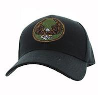 VM547 Eagle Velcro Cap (Solid Black)
