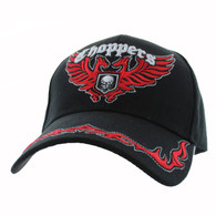 VM639 Choppers Velcro Cap (Solid Black)