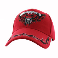 VM639 Choppers Velcro Cap (Solid Red)