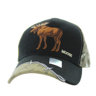VM640 Moose Velcro Cap (Black & Huting Camo)