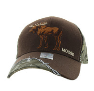 VM640 Moose Velcro Cap (Brown & Huting Camo)