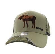 VM640 Moose Velcro Cap (Khaki & Huting Camo)