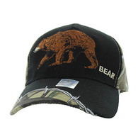 VM640 Bear Velcro Cap (Black & Huting Camo)