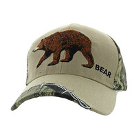 VM640 Bear Velcro Cap (Khaki & Huting Camo)