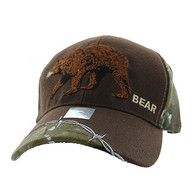 VM640 Bear Velcro Cap (Brown & Huting Camo)
