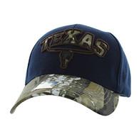 VM646 Texas Velcro Cap (Navy & Hunting Camo)