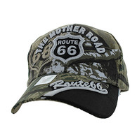 VM170 Route 66 Velcro Cap (Solid Hunting Camo)