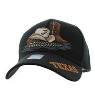 VM382 Texas Velcro Cap (Solid Black)