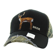 VM640 Deer Velcro Cap (Black & Huting Camo)