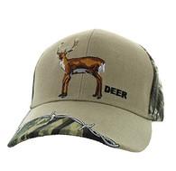 VM640 Deer Velcro Cap (Khaki & Huting Camo)