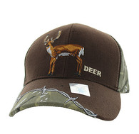 VM640 Deer Velcro Cap (Brown & Huting Camo)