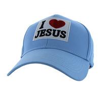 VM641 I Love Jesus Velcro Cap (Solid Sky Blue)