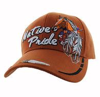 VM291 Native Pride Horse Velcro Cap (Solid Texas Orange)