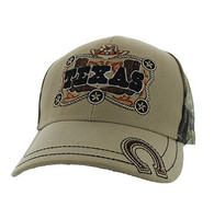 VM502 Texas Velcro Cap (Khaki & Hunting Camo)