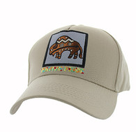 VM604 Native Buffalo Cotton Velcro Cap (Solid Khaki)