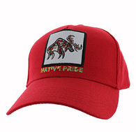 VM604 Native Moose Cotton Velcro Cap (Solid Red)