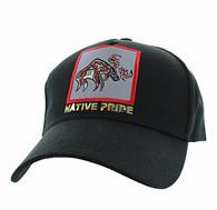 VM604 Native Moose Cotton Velcro Cap (Solid Black)