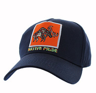 VM604 Native Moose Cotton Velcro Cap (Solid Navy)