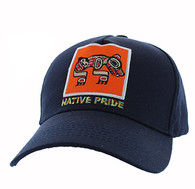 VM604 Native Bear Cotton Velcro Cap (Solid Navy)