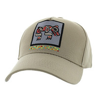 VM604 Native Bear Cotton Velcro Cap (Solid Khaki)