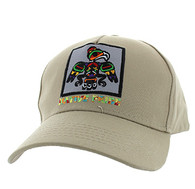 VM604 Native Eagle Cotton Velcro Cap (Solid Khaki)