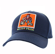 VM604 Native Fish Cotton Velcro Cap (Solid Navy)