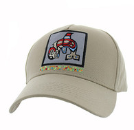 VM604 Native Fish Cotton Velcro Cap (Solid Khaki)