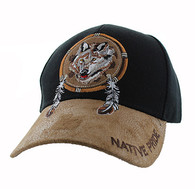VM669 Native Pride Wolf Velcro Cap (Black)