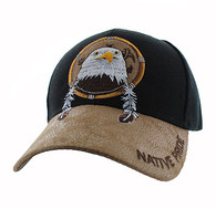VM669 Native Pride Eagle Velcro Cap (Black)