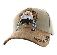 VM669 Native Pride Eagle Velcro Cap (Khaki)