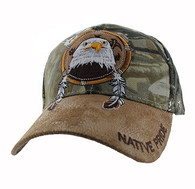 VM669 Native Pride Eagle Velcro Cap (Hunting Camo)