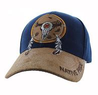 VM669 Native Pride Skull Velcro Cap (Navy)