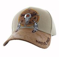 VM669 Native Pride Skull Velcro Cap (Khaki)