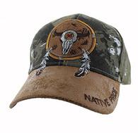VM669 Native Pride Skull Velcro Cap (Hunting Camo)