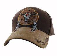 VM669 Native Pride Skull Velcro Cap (Brown)