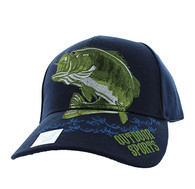 VM207 Big Bass Outdoor Sports  Velcro Cap (Solid Navy)