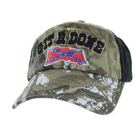 BM676 Git R Done Rebel Buckle Cap (Hunting Camo & Black)
