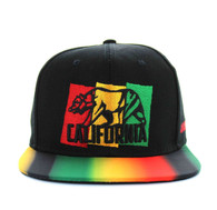 SM666 California Bear Cotton Snapback (Black)