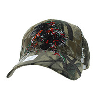 VM240 Cock Fight Ball Velcro Cap (Solid Hunting Camo)