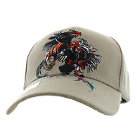 VM240 Cock Fight Ball Velcro Cap (Solid Khaki)