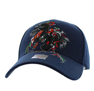 VM240 Cock Fight Ball Velcro Cap (Solid Navy)