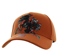 VM240 Cock Fight Ball Velcro Cap (Solid Texas Orange)
