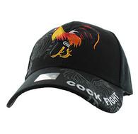 VM274 Cock Velcro Cap (Solid Black)