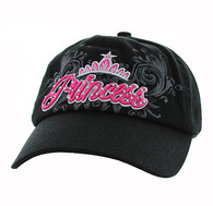BM339 Princess Cotton Buckle Cap (Solid Black)
