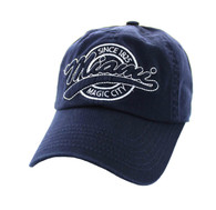BM701 Miami City Washed Cotton Polo Cap (Solid Navy)