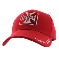 VM162 Christ For Me Velcro Cap (Solid Red)