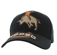VM213 Rodeo Velcro Cap (Solid Black)
