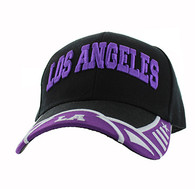VM421 Los Angeles City Velcro Cap (Black & Purple)